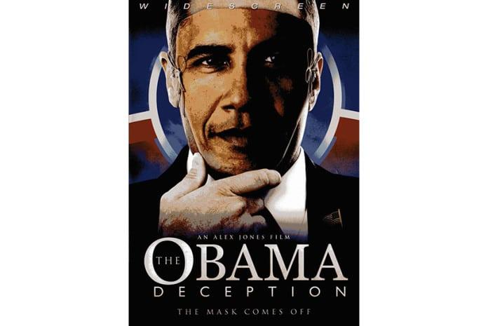 Capa do DVD do Documentário «The Obama Deception: The Mask Comes Off» (2009)