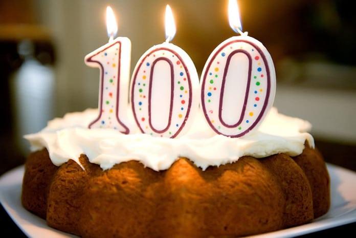 Bolo a festejar os 100 artigos publicados