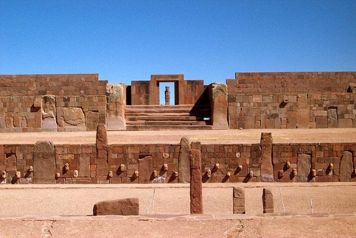 A antiga cidade de Tiwanaku, na Bolivia