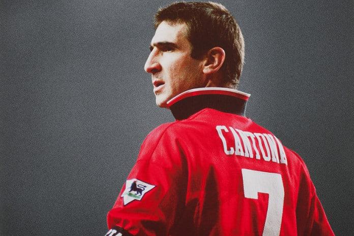 Eric Cantona quando alinhava pelo Manchester United