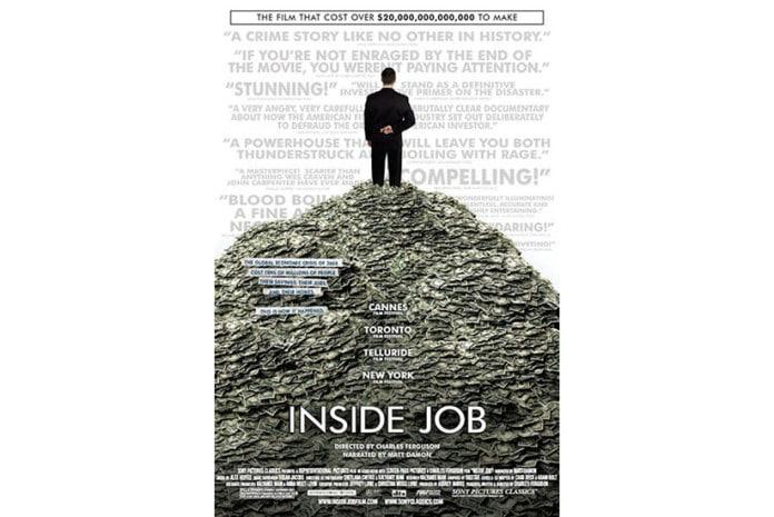 Capa do DVD do documentário: Inside Job - A Verdade da Crise (2010)
