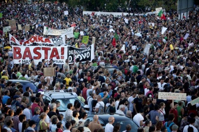 Manifestação em Lisboa