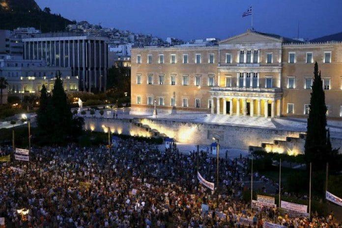 Manifestação contra a austeridade