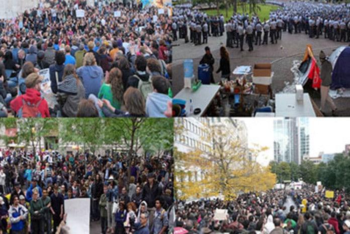 Cronologia das manifestações do Movimento Occupy