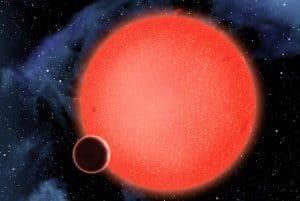 Planeta GJ1214b e a estrela anã