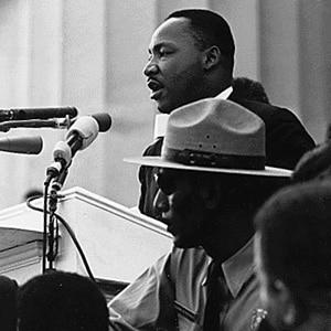 Martin Luther King Jr. na marcha de Washington
