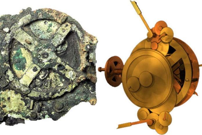 A chamada máquina de Antikitera é um artefacto que se acredita tratar de um antigo mecanismo para auxílio à navegação