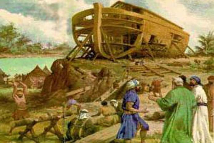 Noé na construção da Arca