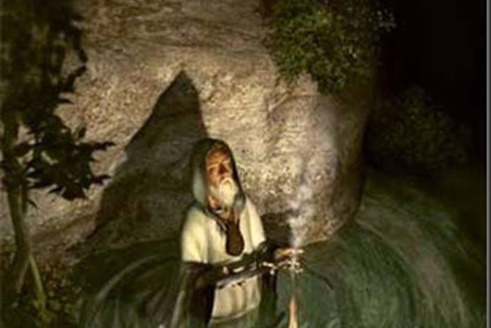 Druida no Bosque Sagrado
