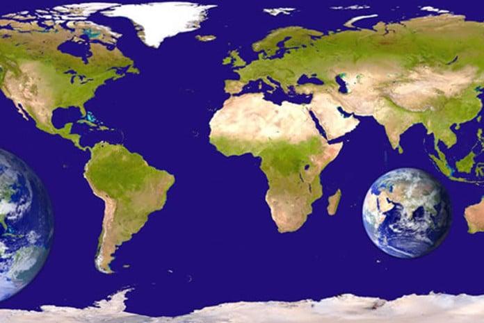 Mapa Mundo tão diferente de como conhecemos