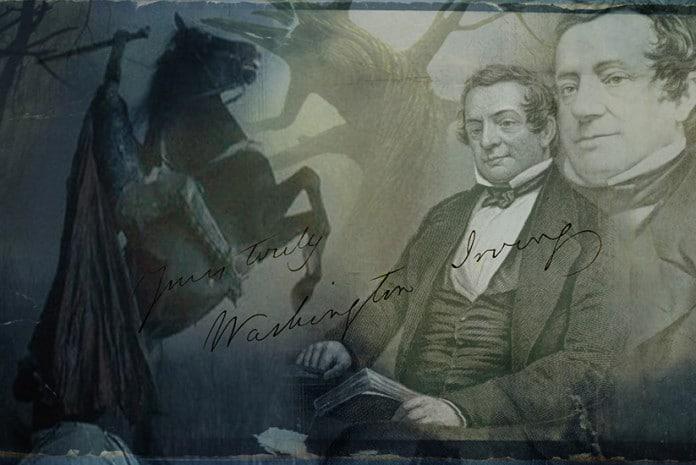 Washington Irving, autor de «The Legend of Sleepy Hollow» («A Lenda do Cavaleiro sem Cabeça»)