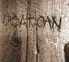 Inscrição na árvore: Croatoan