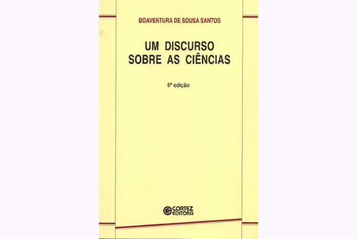 Capa do Livro «Um Discurso sobre as Ciências» de Boaventura Sousa Santos
