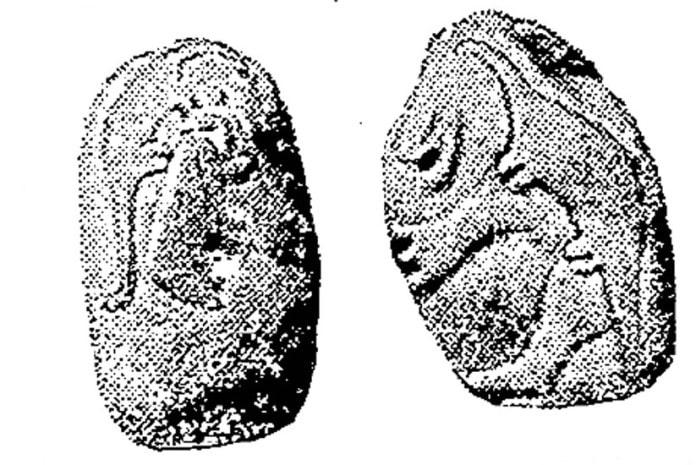 Aspecto frontal das pedras de Granby