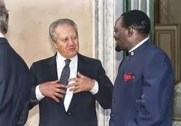 Mário Soares e Jonas Savimbi