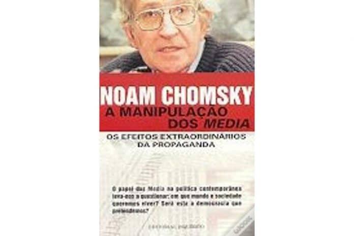 Capa do Livro «A Manipulação dos Media» de Noam Chomsky