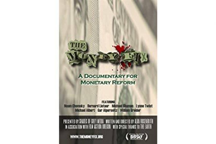 Capa do DVD do Documentário «The Money Fix [A Solução para o Dinheiro]» (2009)