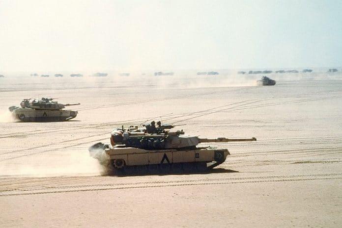 Tanques Americanos na Primeira Guerra Golfo