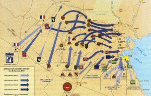 Mapa da Primeira Guerra do Golfo