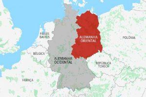 Mapa das duas Alemanhas