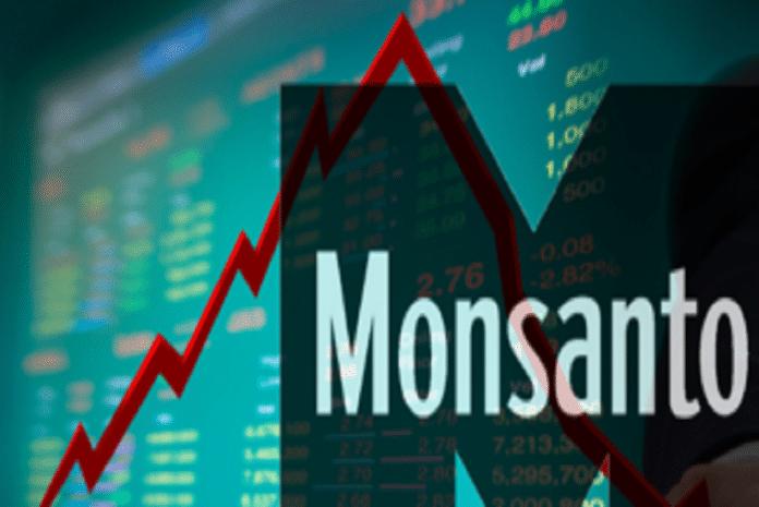 Queda no valor das acções da Monsanto