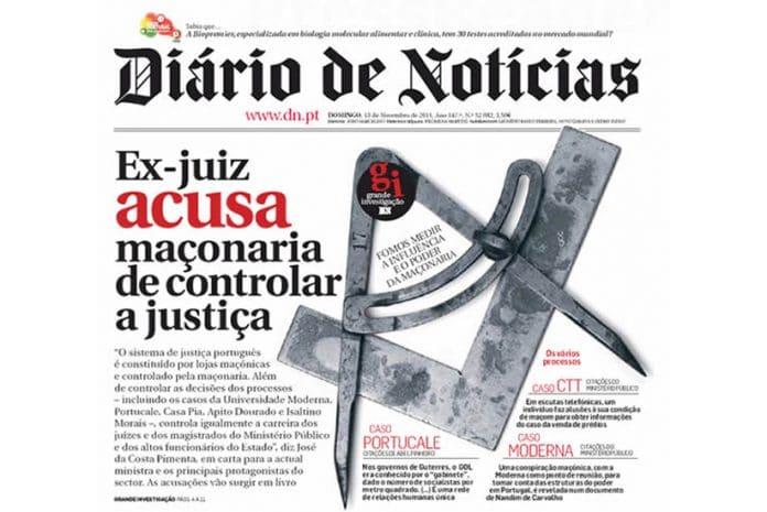 Capa do Diário de Notícias