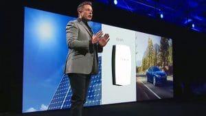 Elon Musk na apresentação do Powerwall