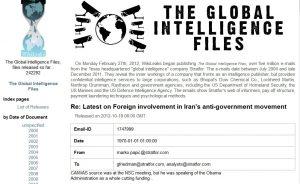 Wikileaks publica as The Global Intelligence Files
