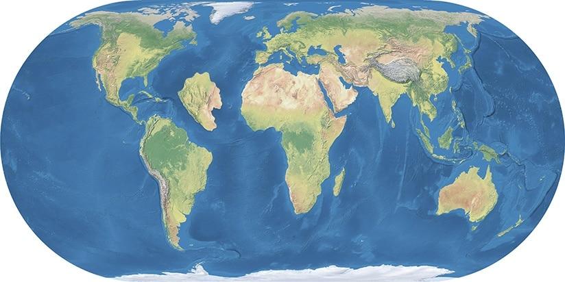 Mapa com a possível localização da Atlântida
