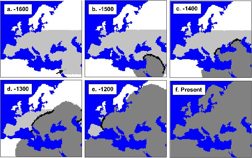 Expansão dos Cro-Magnon pela Europa e Norte de África