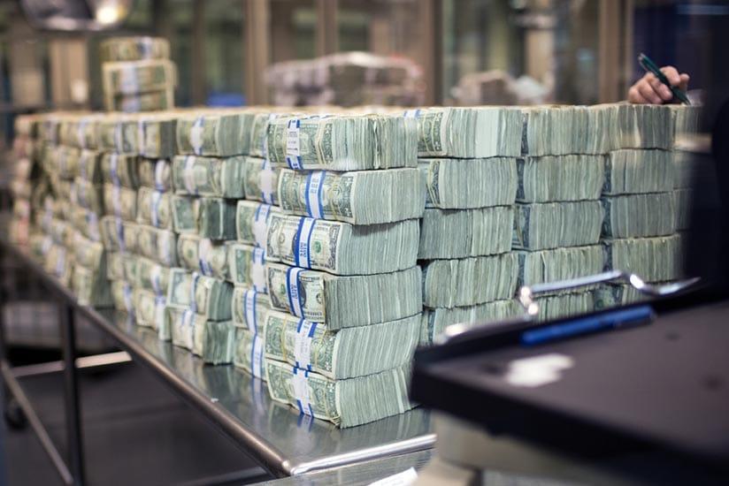 Reservas de dinheiro nos Bancos