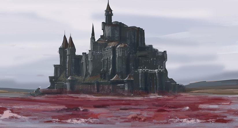 Castelo da cidade de Ys