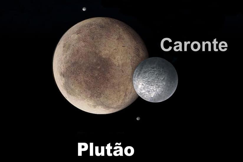 Plutão e a Lua Caronte
