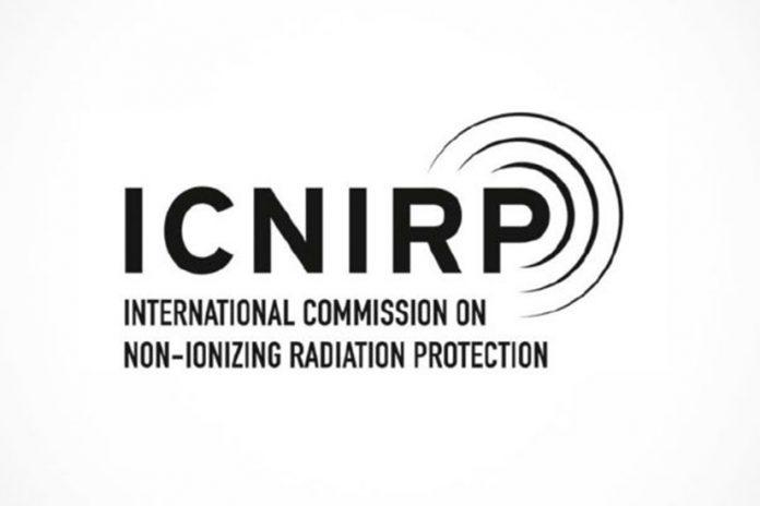 Autoridades: Logotipo da ICNIRP - International Comission on Non-Ionizing Radiation Protection