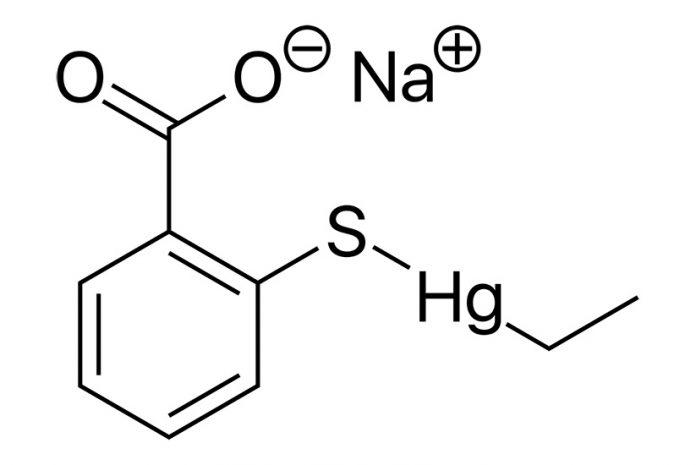 Timerosal associado a distúrbios neurológicos: a molécula de Timerosal