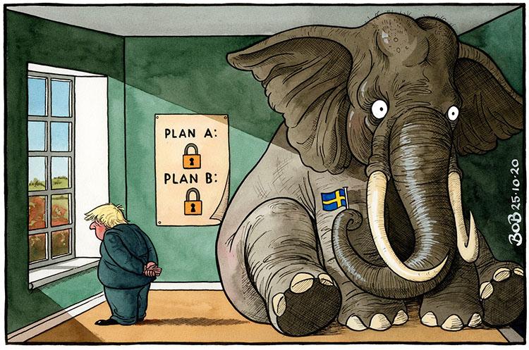 Suécia, um elefante enorme na sala