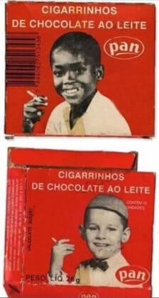 Cigarrinhos de Chocolate. A condicionar futuros clientes desde tenra idade.