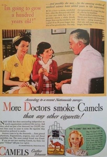«Mais Médicos fumam Camel.»