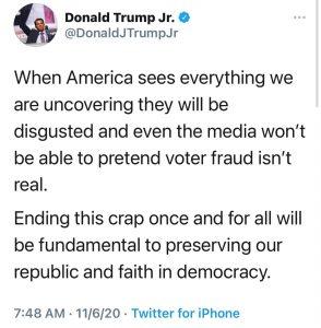 Twitt de Donald Trump Jr.
