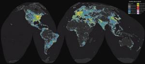 Atlas Mundial de Brilho do Céu Noturno Artificial